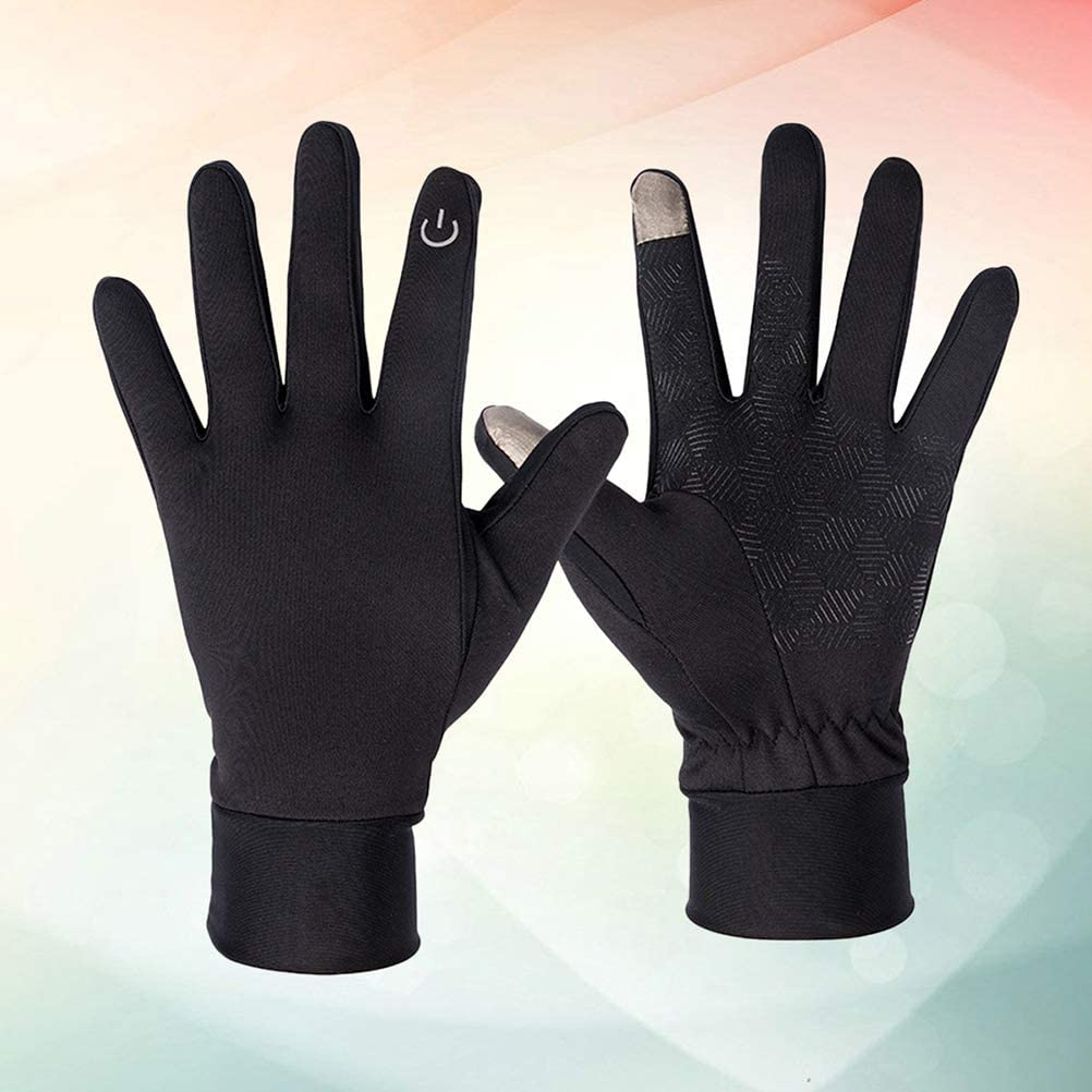 S, Black Vosarea Winter Gloves Cold Weather Windproof Touchscreen Gloves Men Women For Cycling Running Outdoor Activities