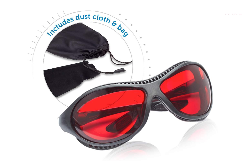Sleep Savior TM Ultra gafas nocturnas rojas; bloquean luz molesta que bloqueadoras luz azul para hombres mujeres; aumentan melatonina manera natural ayudan ...