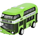 Pull Back Bus Toys Collection Model Double-decker Bus Alloy Die Cast City Bus For Kids