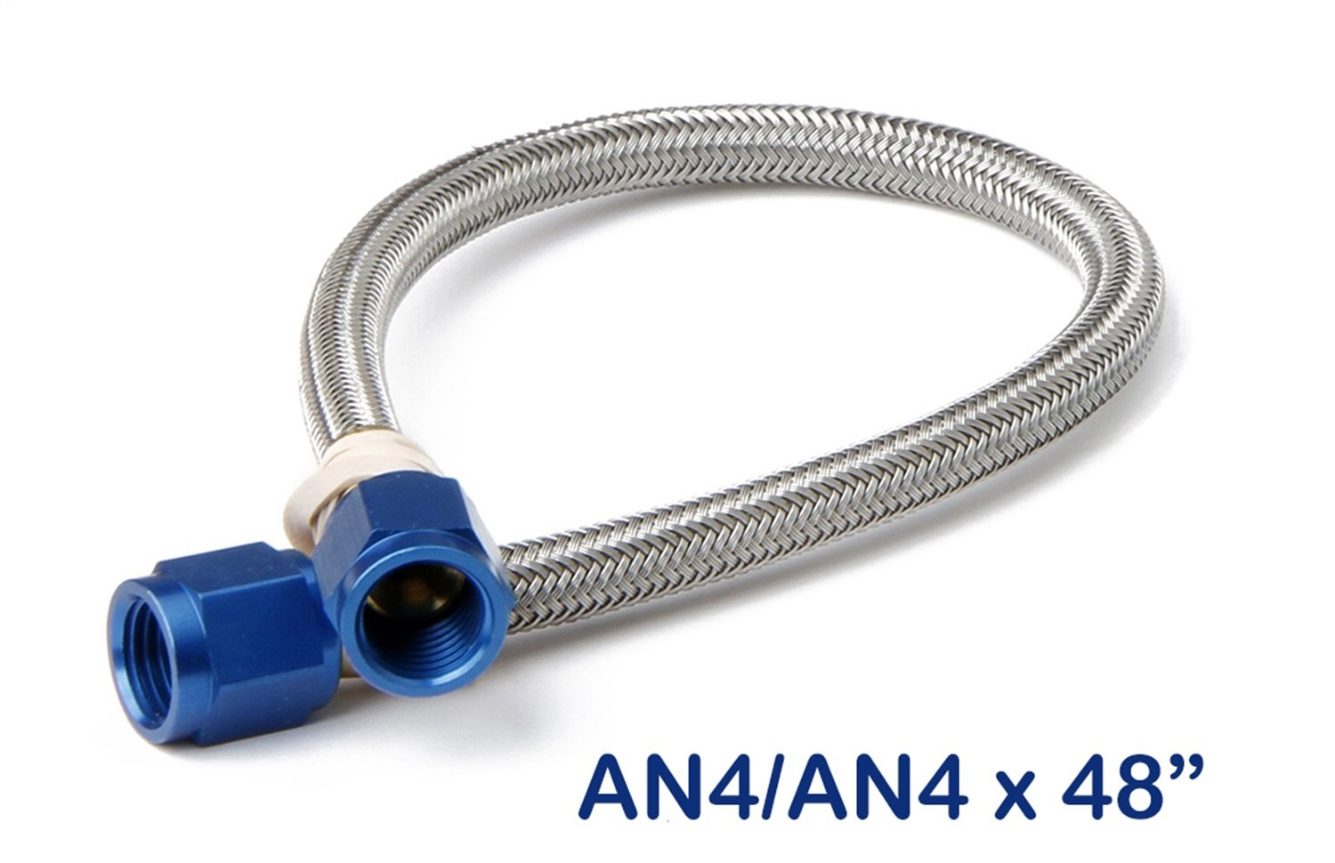 NOS 15250NOS Stainless Steel 4' Braided Hose with -4AN Blue Fittings NOS/Nitrous Oxide System