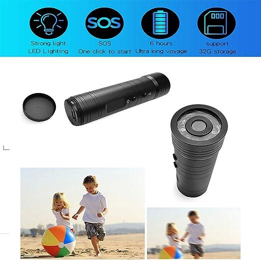 Linterna LED con HD 720p cámara de vídeo impermeable cámara de ...