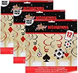 Casino Foil Swirl Hanging Party Decoration (36 Pieces)