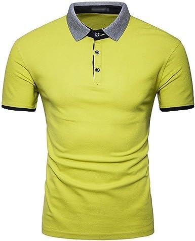 Lannister Fashion Camisa De Polo Casual para Hombre Camisa De Retro Polo Manga Corta Tops Camisa De Polo Casual Monocromática para Verano Tops: Amazon.es: Ropa y accesorios