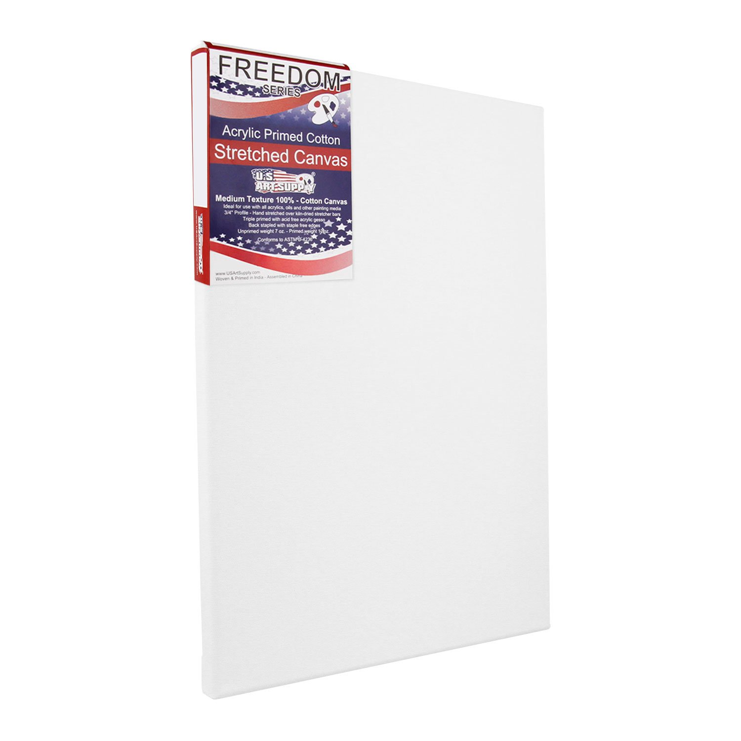 US Art Supply 24 X 36 inch Professional Quality Acid Free Stretched Canvas 6-Pack - 3/4 Profile 12 Ounce Primed Gesso - (1 Full Case of 6 Single Canvases) by US Art Supply (Image #2)