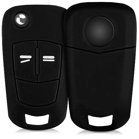 kwmobile Funda de Silicona para Llave Plegable de 2 Botones para Coche Opel Vauxhall - Carcasa Protectora [Suave] de [Silicona] - Case Mando de Auto ...