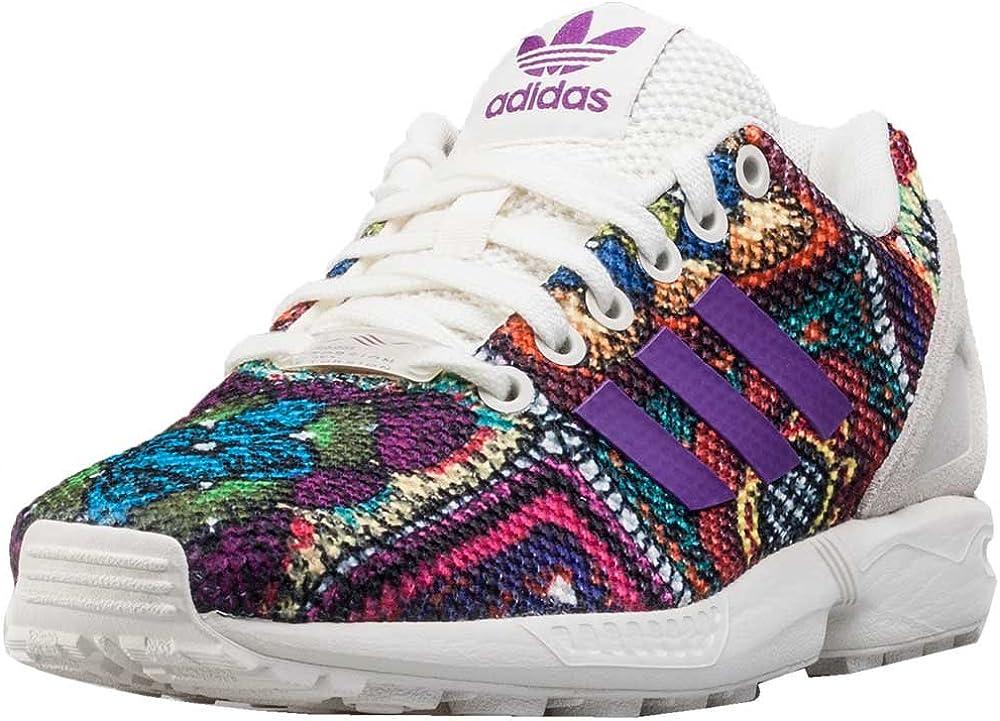basket adidas zx flux femme noir et rose