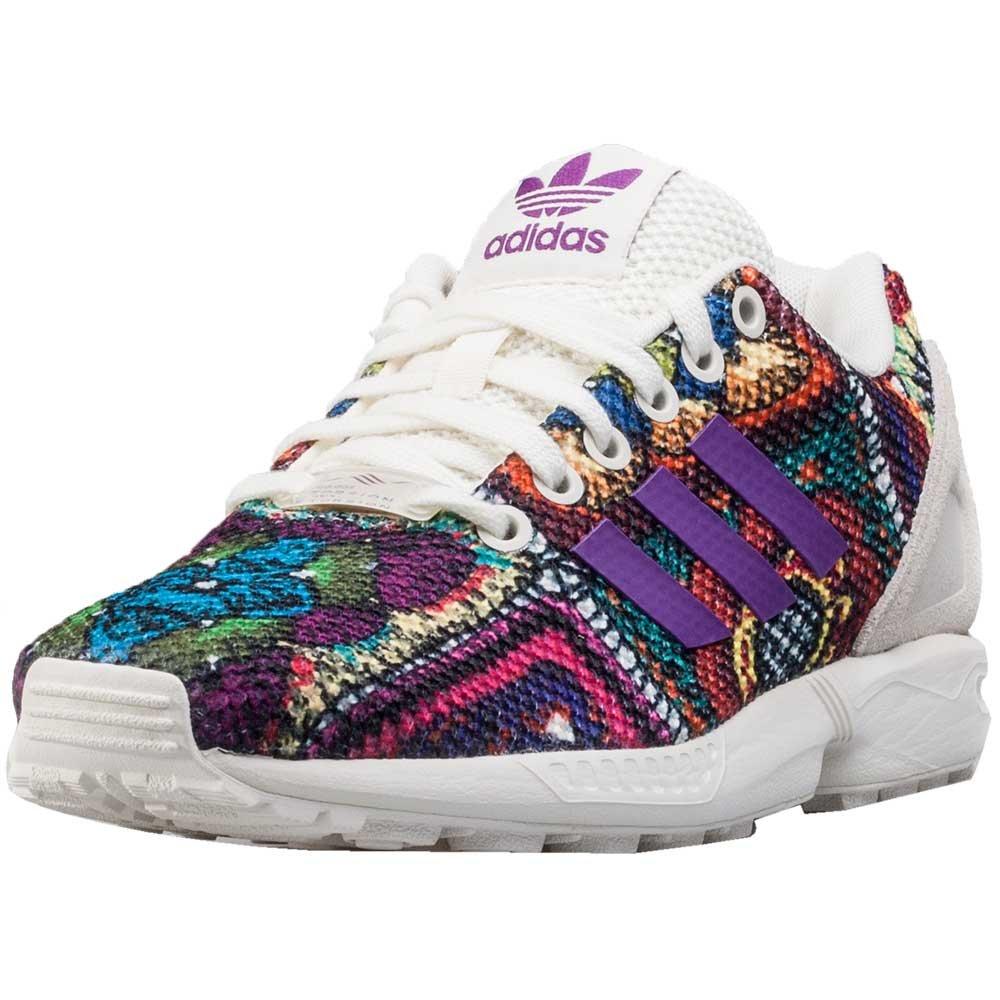 Adidas Originals schuhe ZX Flux W Off Weiß Off Weiß Mid grapef07 16 17