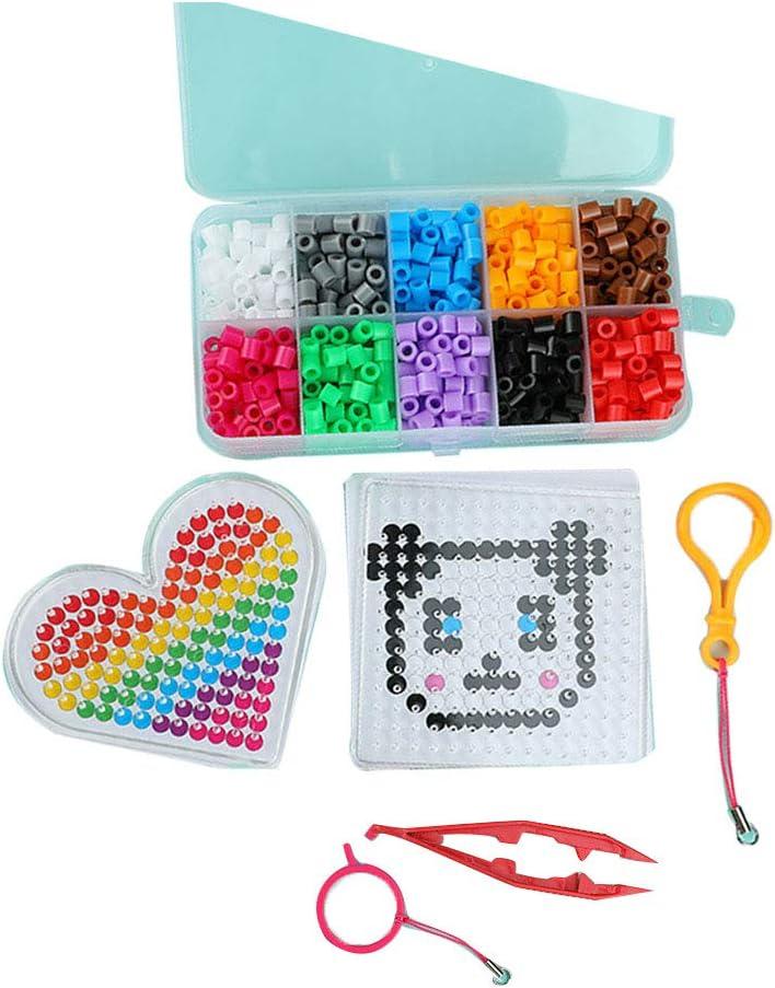 Rocita Juego Fuse Bead Set Fun Fusion Pegboards Plancha de Papel Animal Templates Caja de Almacenamiento Puzzle Beads Kit Compatible para niños: Amazon.es: Juguetes y juegos