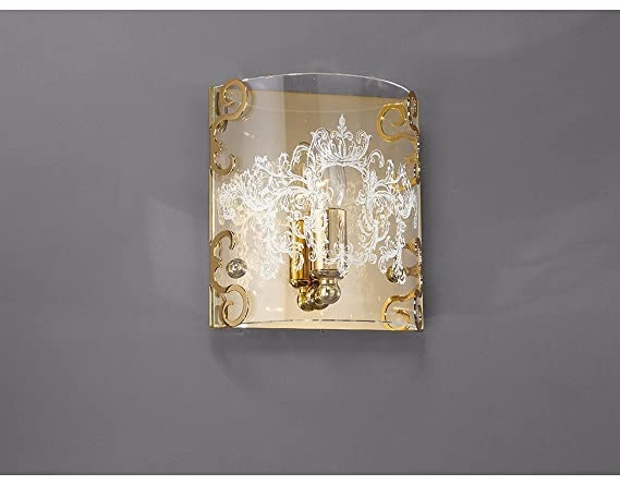La lampada applique classica con decoro graniglia amazon