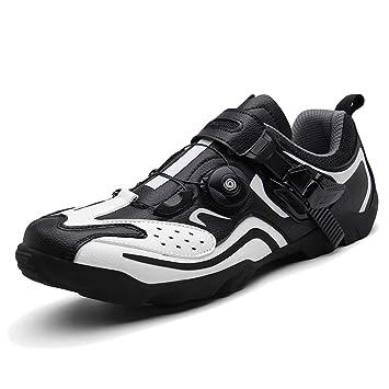 AEMUT Zapatillas de Ciclismo para Hombre Zapatillas de Bicicleta ...