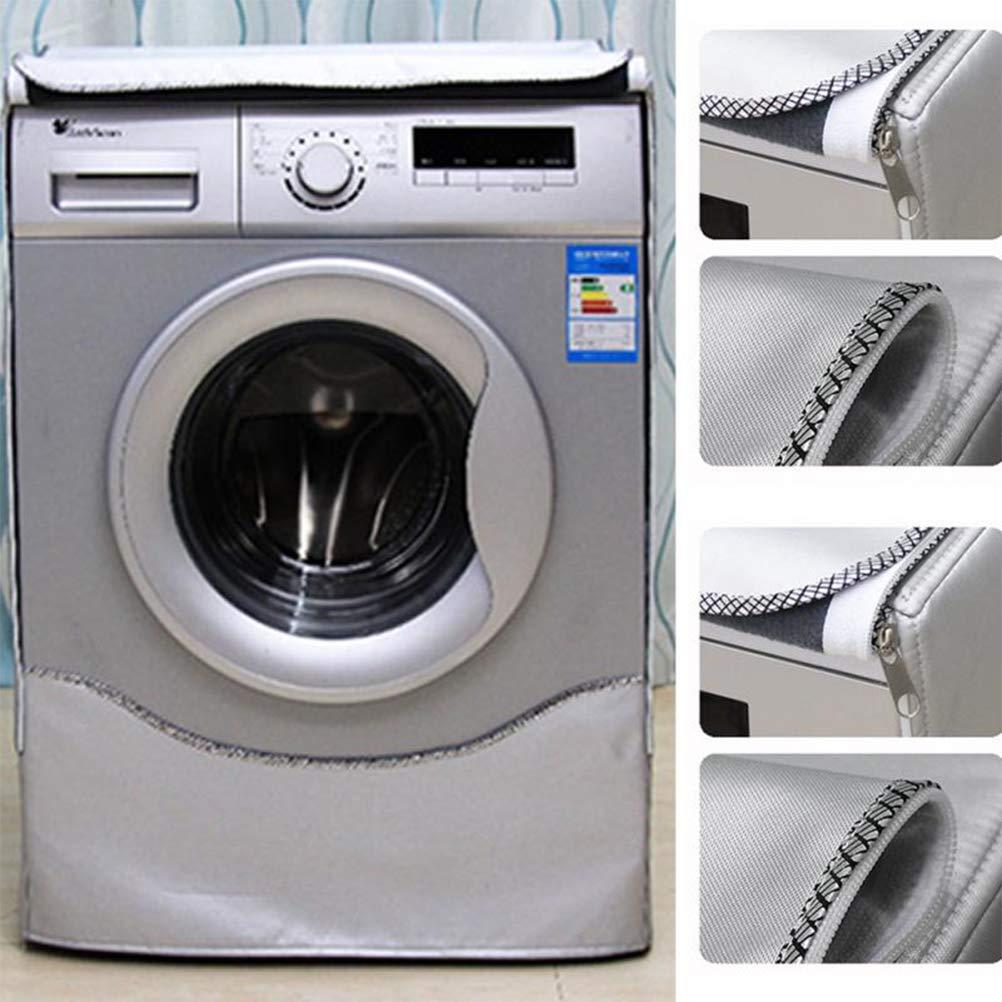 Mekta poli/éster color plateado extra-large plata Cubierta impermeable para lavadora y secadora