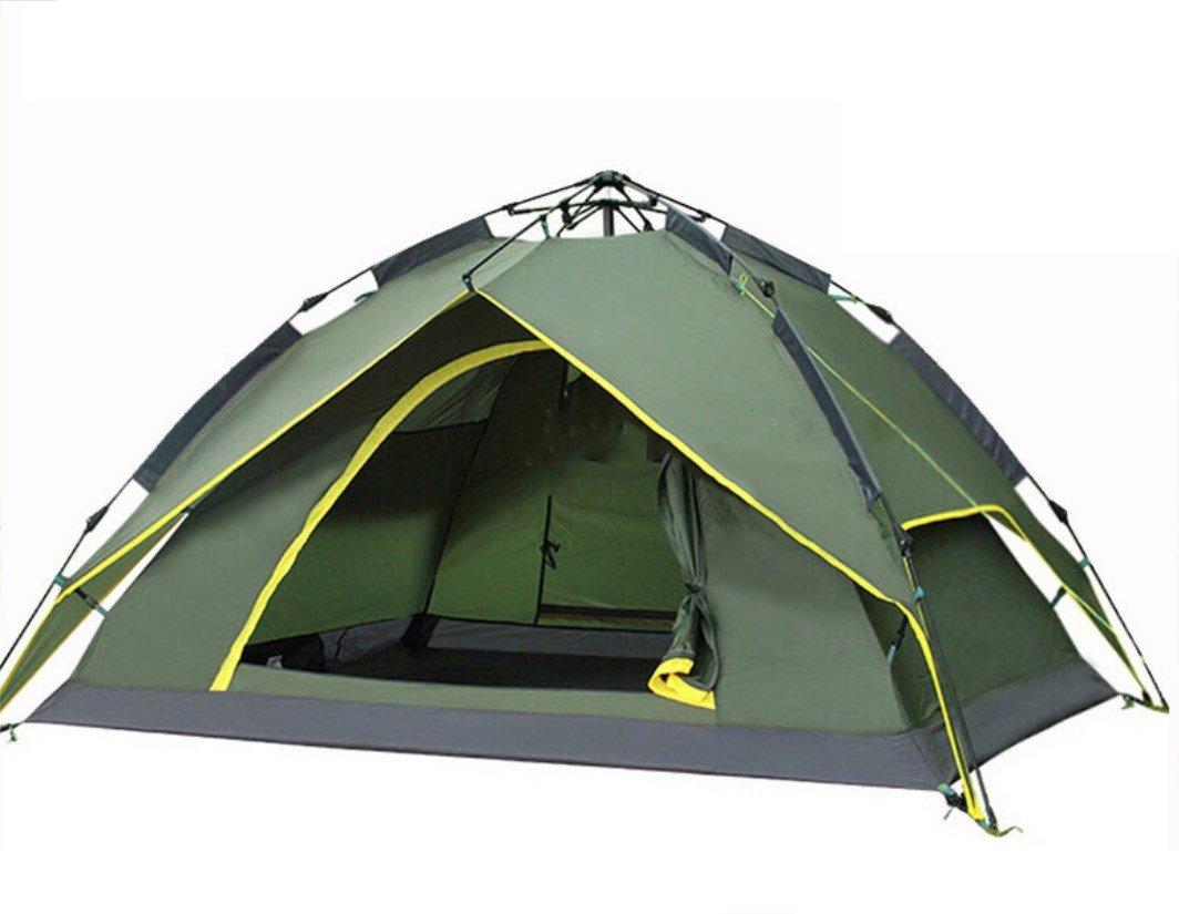 3-4 Personen Doppelzug Seil Zelt Freie Build-Geschwindigkeit Öffnen Outdoor Camping Zelt ZXCV