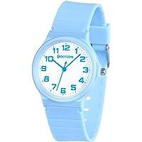 Reloj analógico para niños, 5ATM Resistente al Agua, fácil de Leer, Enseñanza del Tiempo Niños niñas Reloj, Reloj de…