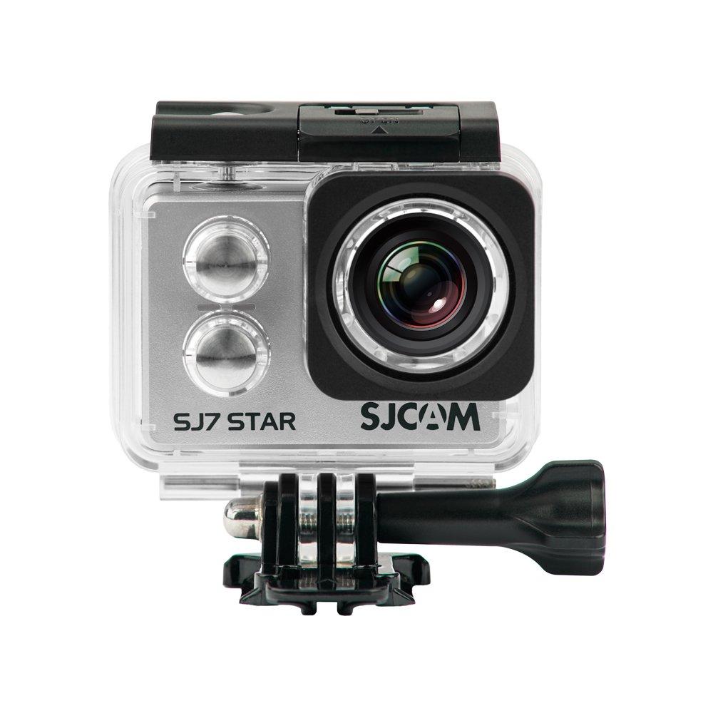 Official SJCAM SJ7 Star WiFi Action Camera (Silver), 4K UltraHD, 30M Waterproof, Touchscreen, Metal Body, Gyro Stabilization, Time Lapse & Slow Motion, Car Dashcam FPV SJ7Star