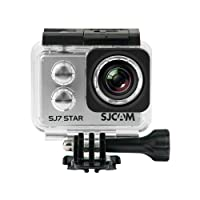 Official SJCAM SJ7 Star WiFi Action Camera (Silver), 4K UltraHD, 30M Waterproof, Touchscreen, Metal Body, Gyro Stabilization, Time Lapse & Slow Motion, Car Dashcam FPV