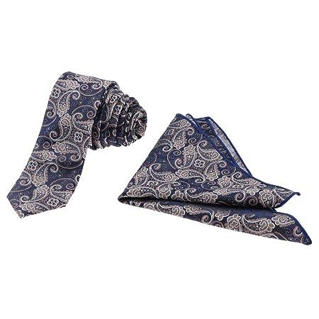 F Fityle Corbata con pañuelo Suave cómodo Accesorio Hombre ...