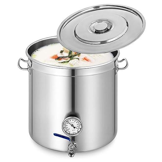 Anhon Olla para Sopa 45mm Olla de Sopa de Acero Inoxidable ...