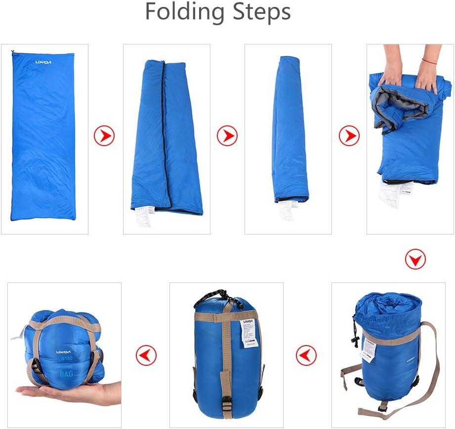 randonn/ée Lixada Sac de couchage durgence portable l/éger avec cordon pour camping survie voyage