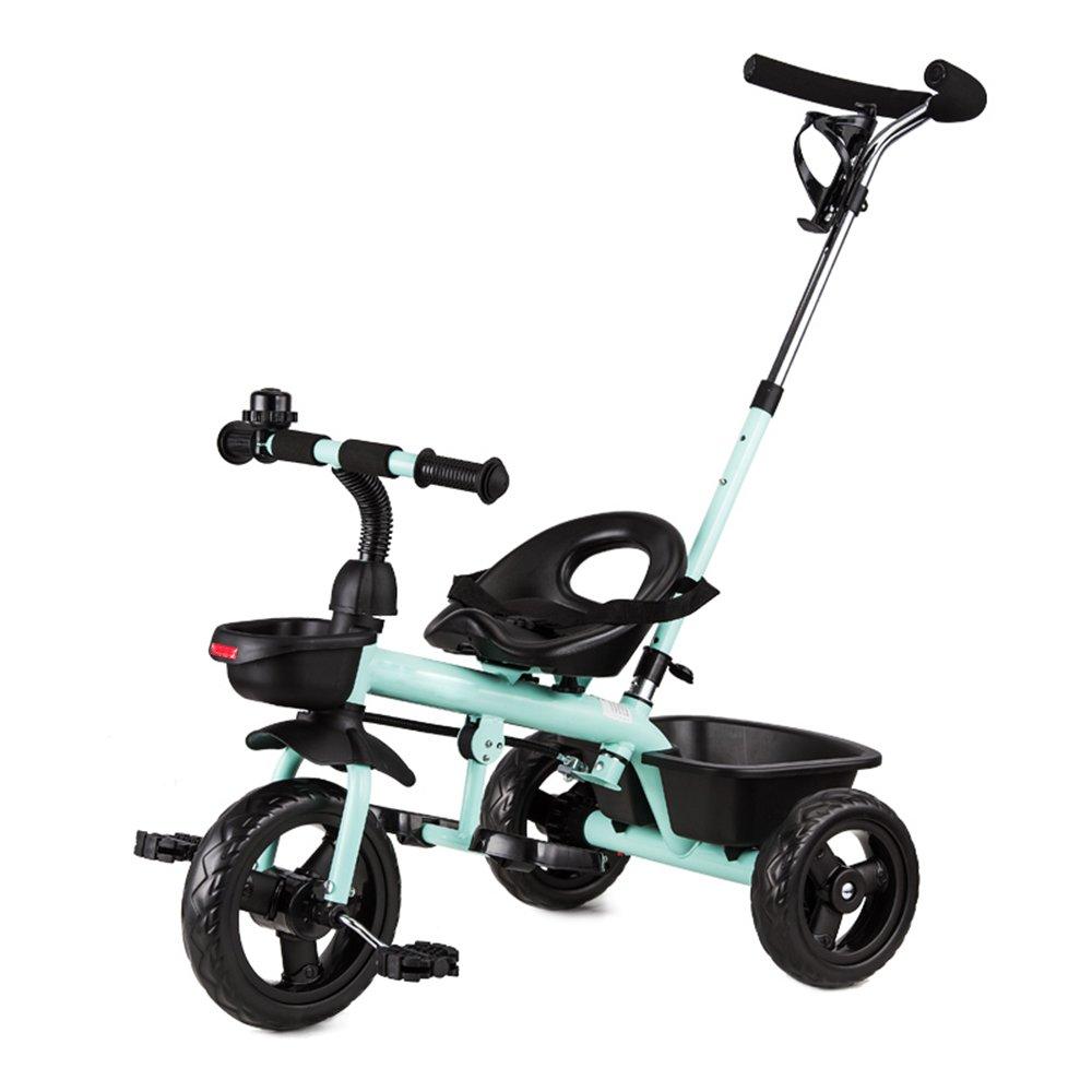 マチョン 自転車 子供の三輪車バイク1-3歳のベビーバイクベビーカー2-4-6歳 B07DS3X18Y Green-1 Green-1