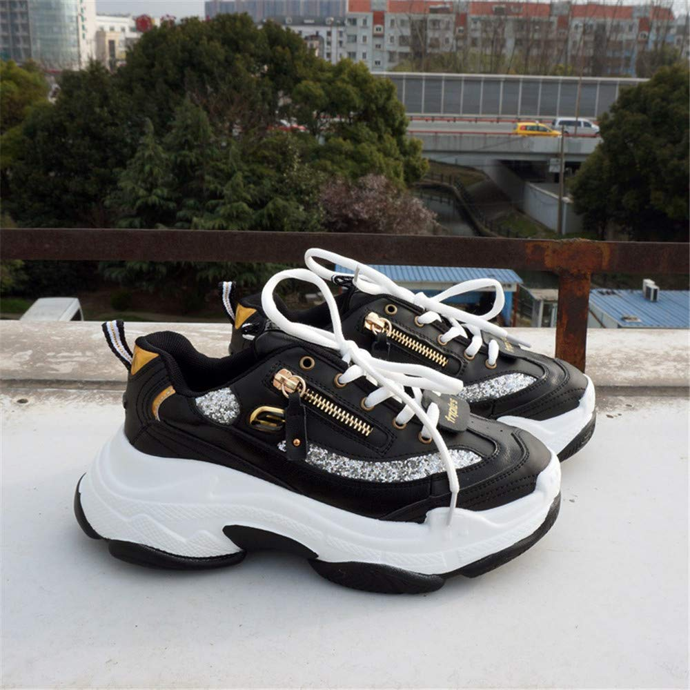 Genuine Leather Women Chunky Sneakers Fashion Platform Womens Casual Breathable Woman Footwear