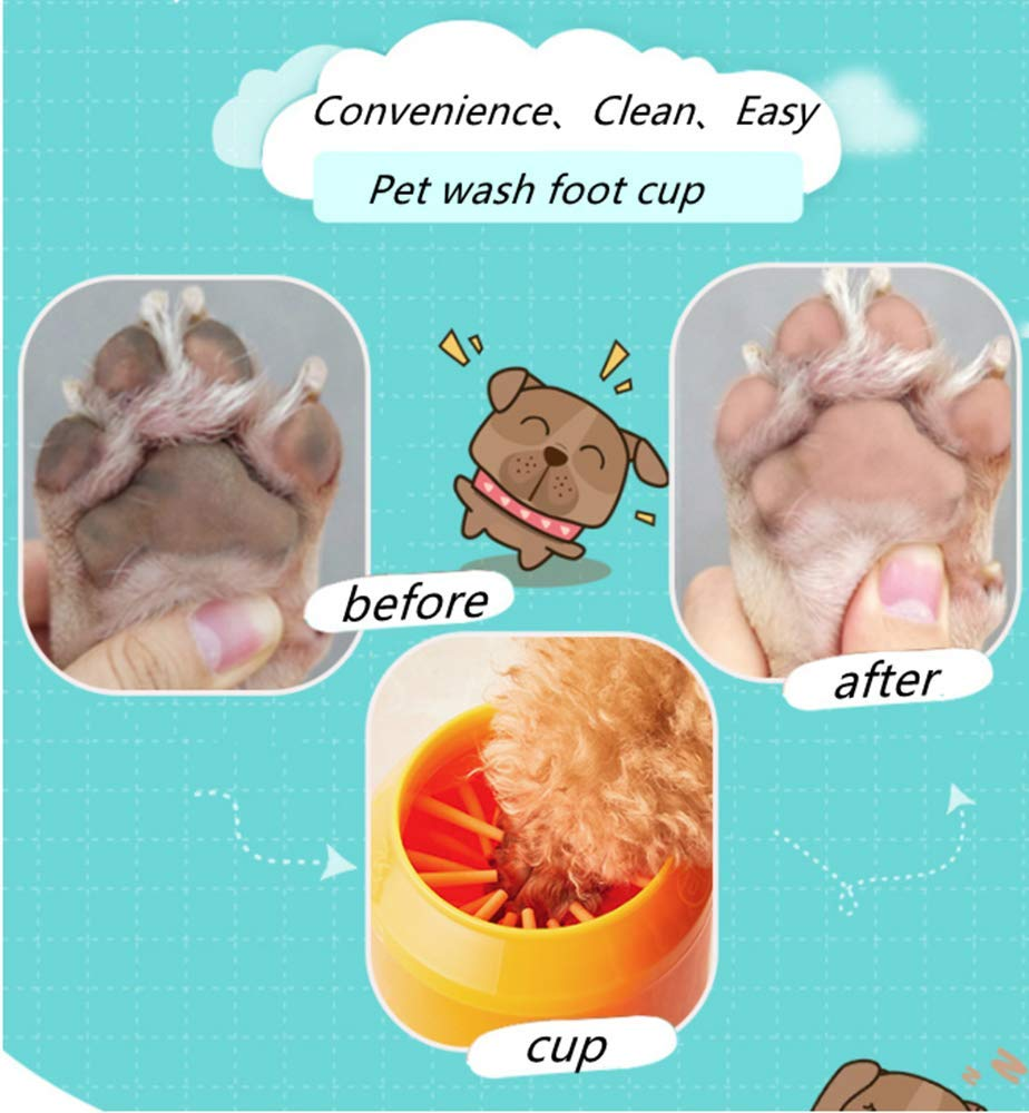 Multi-Size Optional Pet Cleaning Beauty Products Big, Blue Cans Pet Foot Wash Cup PP Plastic Material Anti-Drop and Anti-Impact Easy to Remove and Wash Multi-Color