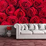 Red Roses Flowers Decorative Romantic Floral Wall Mural Home Photo Wallpaper available in 8 Sizes Gigantic Digital