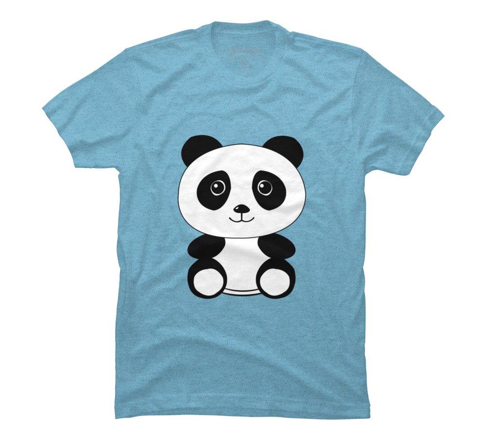 The Panda S X Sky Blue Heather Graphic T Shirt