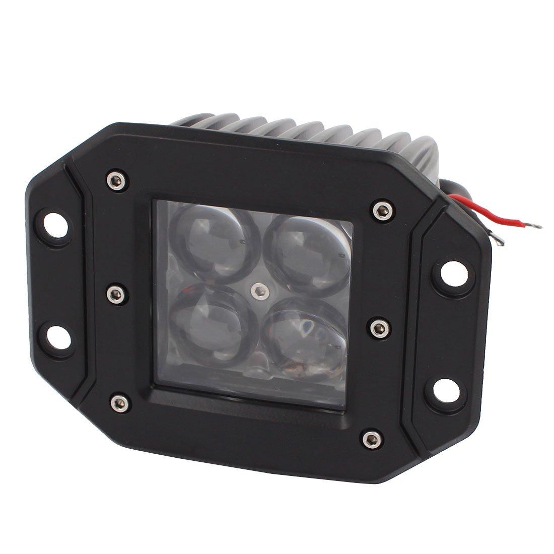 uxcell 12W-C02 12W DC 10V-30V 4 LED Bulb Spotlight Working Lamp for Truck Car