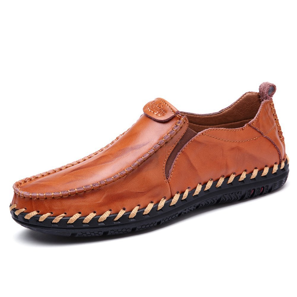 Leather Shoes for Men Slip on Loafers Casual Fashion Driving Boat Shoes