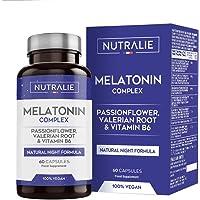 Melatonina Pura 1,8mg con Valeriana y Tila | Conciliar el Sueño, Insomnio y Descansar…