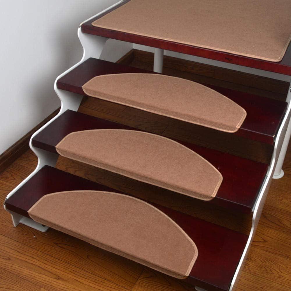 Step pad pegamento libre autoadhesivo antideslizante hebilla mágica parche alfombra de escalera de color sólido de poliéster {10pcs}, gris_55 * 21cm: Amazon.es: Bricolaje y herramientas