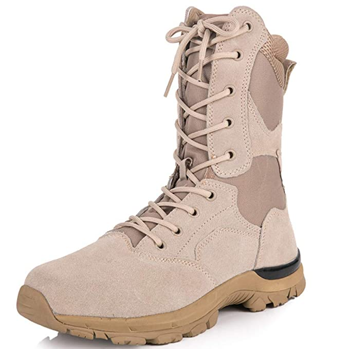 FCBDXN Alpinismo Para Hombre Al Aire Libre Zapatos Deportivos Tácticas Asalto Entrenado Botas De Ejército De Combate Fuerzas Armadas Botas De Seguridad: ...