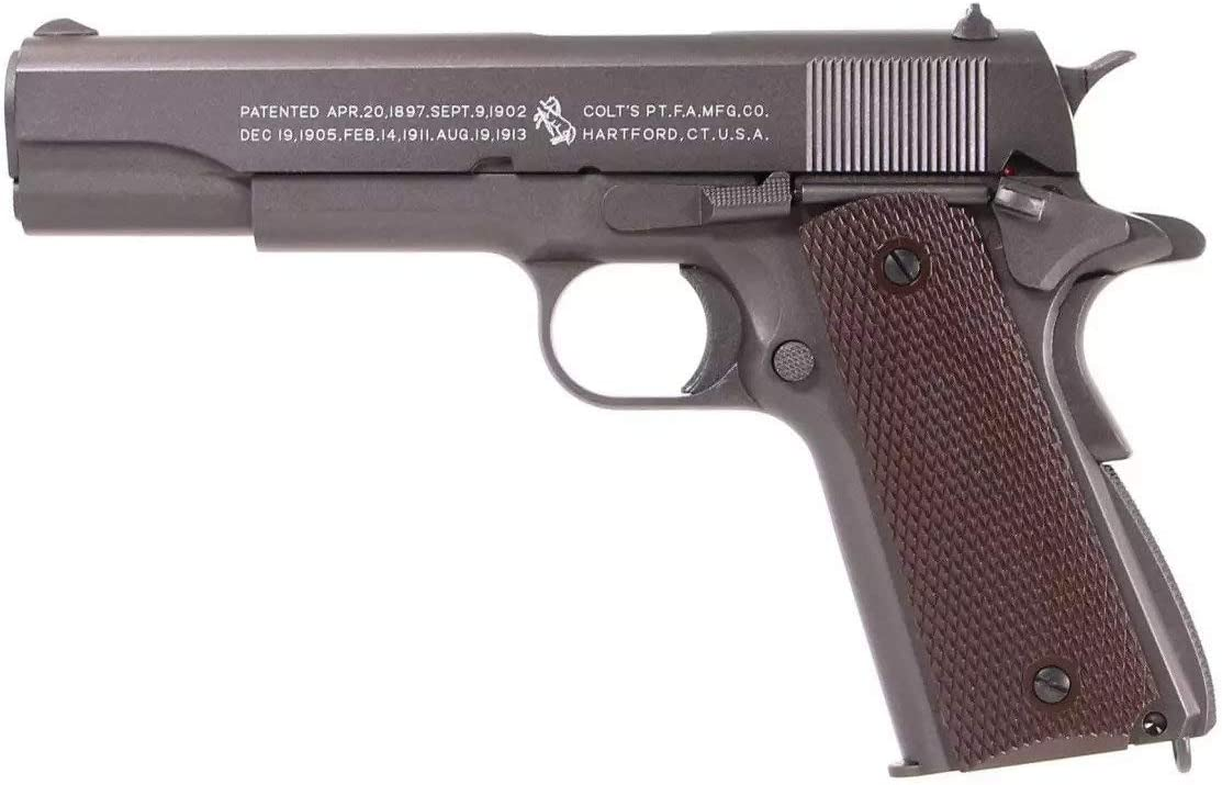 KWC-Airsoft Colt 1911 Classic Co2 Full Metal-Semi-Automatic-Power 0.5 Joules
