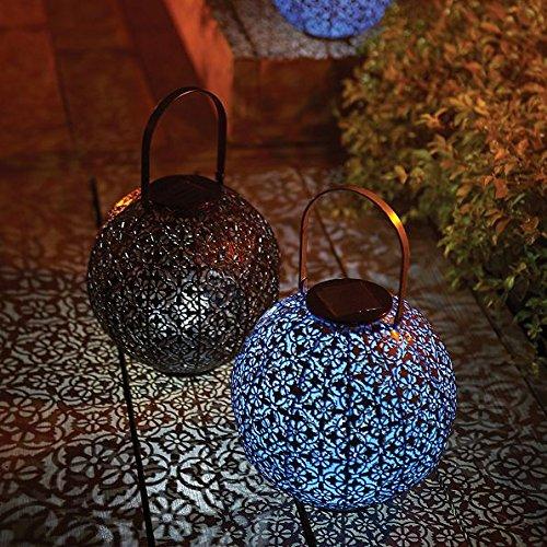 DermaPAD Moroccan Style Solar LED Outdoor Lantern (ANTIQUE BRONZE) by DermaPAD