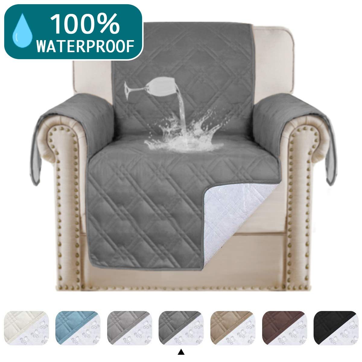 Waterproof Sofa Cover Leather Couch Protector Furniture Covers for Living Room Non-Slip Couch Covers for Dogs Soft and…