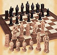 The Battle of Hastings Antiqued Chess Pieces