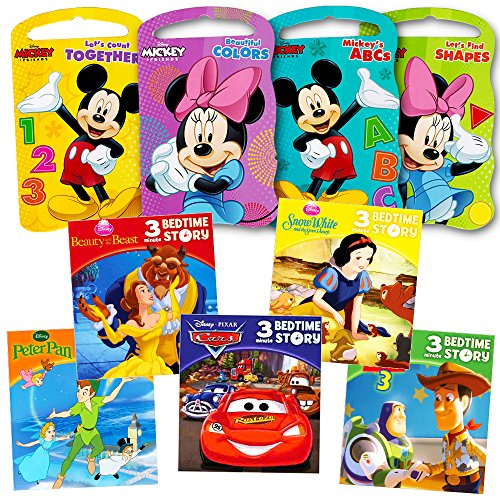 Mickey Mouse Clubhouse Ultimate Books Set For Kids Toddlers -- Pack of 8 Books (4 Board Books, 4 Soft Cover Books)