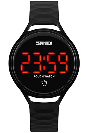 Amazon.com: Men Women Fashion Minimalist Waterproof Touch Screen LED Electronic Watches for Kids Black: Watches