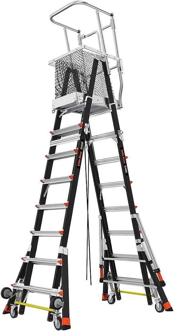Little Giant Ladder Systems 18515-240 Escalera de seguridad con jaula de fibra de vidrio, 20,32-35,56 cm: Amazon.es: Bricolaje y herramientas