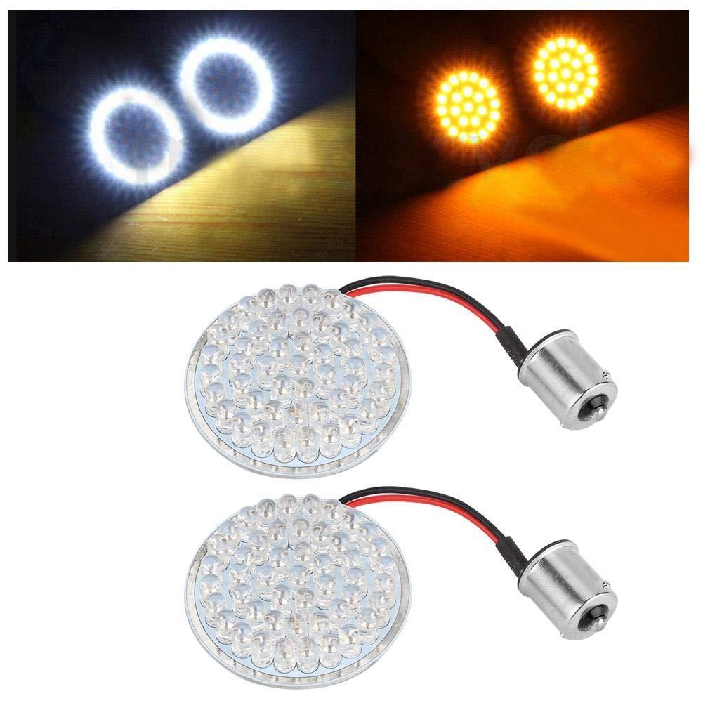 Akozon Turn Signals Lights 2PCS 2inch Bullet LED Turn Signal Indicator Lights Insert for Motorcycle FXS FLSTSB FXDC 883 XL883