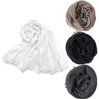 Hijab Scarfs for Women Soft Cotton Hemp Head Wrap Shawl Long Scarves Hijab for All Seasons