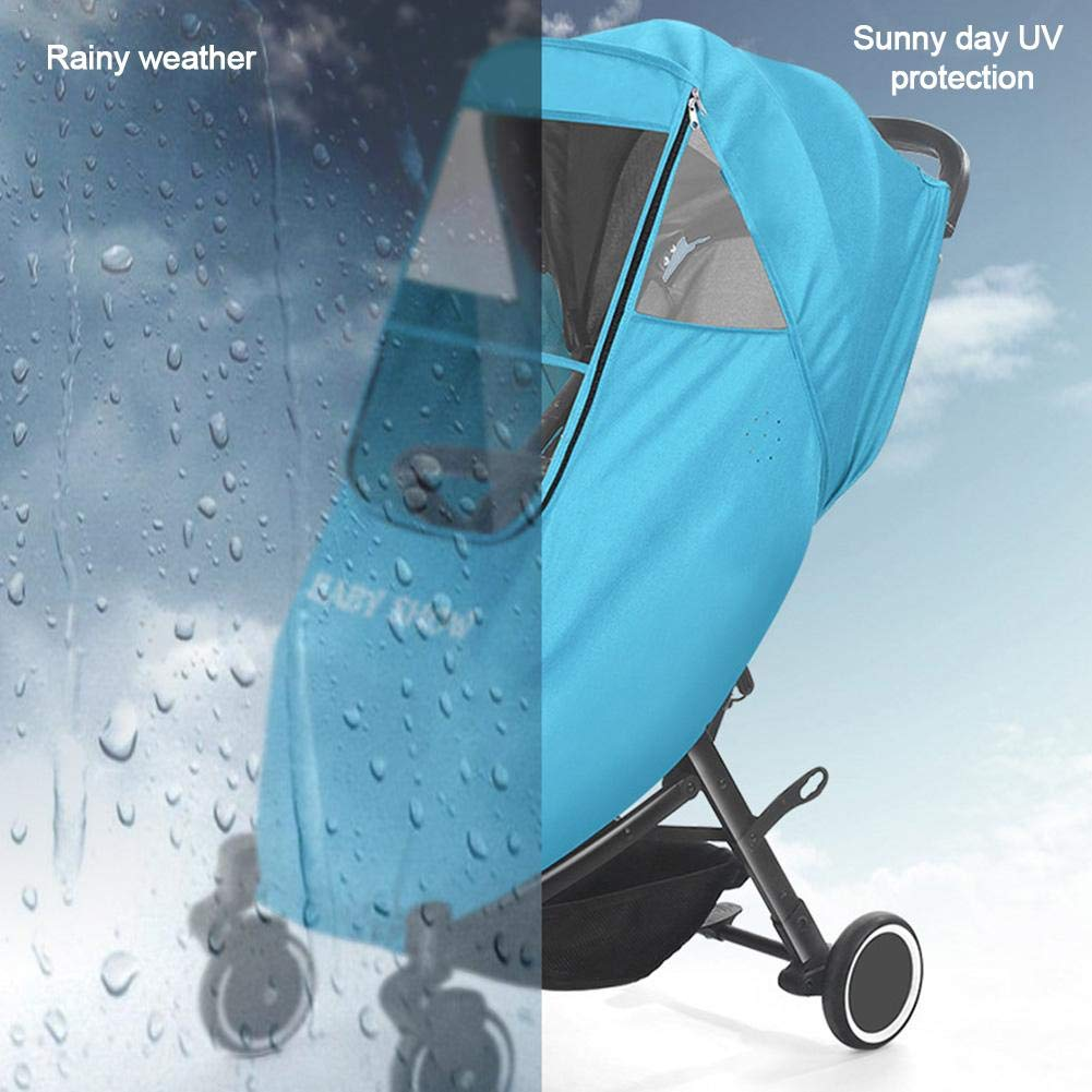 Baby Carriage Rain Cover Baby Stroller Weather Shield 3D Nano Waterproof Stroller Raincoat Baby Car Warm Cover Wind Dust Cover