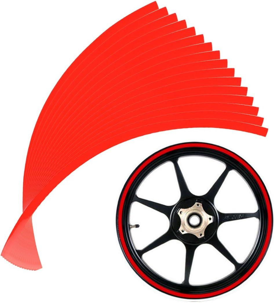 Verde Scuro Larcele 10mm Decalcomanie catarifrangenti del adesivi per cerchioni per Ruote del moto 16o le Ruote dellauto QCFGT-01
