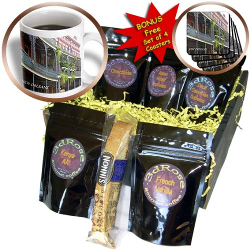 Florene Architecture - French Quarter New Orleans - Coffee Gift Baskets - Coffee Gift Basket (cgb_43748_1)