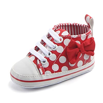KONFA Toddler Infant Baby Boys Girls Dots Print Soft Sole Shoes,for 0-12 Months,Fashion Prewalker Anti-Slip Boots: Clothing