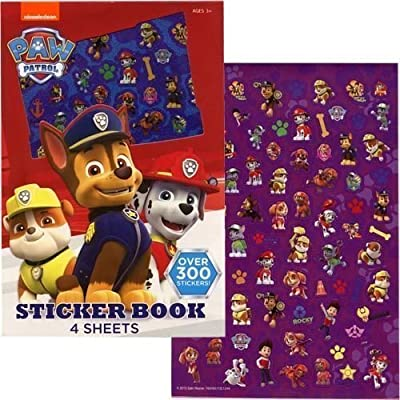 UPD Paw Patrol Sticker Book, 4 Sheets - Over 300 Stickers: Toys & Games