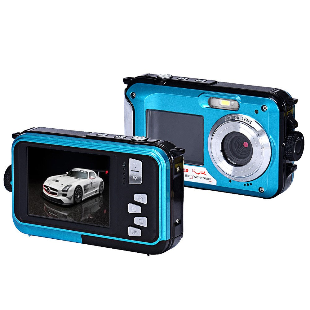 Amazon.com : Coolbiz Double Screen Waterproof Camera 24MP 16x ...