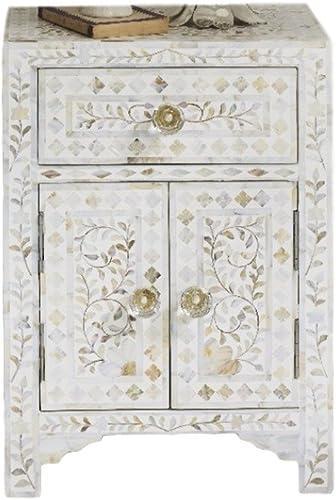 Baxton Studio Colette Weathered Oak White Wash Distressed Two-Tone 2-Drawer 1-Shelf Nightstand