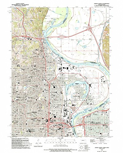 YellowMaps Omaha North NE topo map, 1:24000 Scale, 7.5 X 7.5 Minute, Historical, 1994, Updated 1995, 27 x 21.7 in - Polypropylene]()
