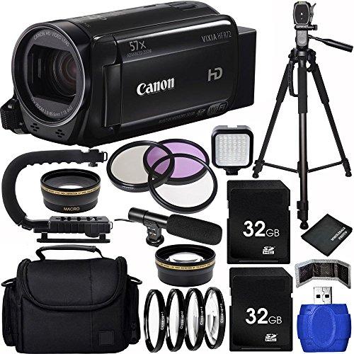 Canon 32GB VIXIA HF R72 Full HD Camcorder Bundle with Car...
